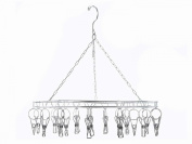 20 Clips Stainless Steel Clothes Socks Peg Clothespin Airer Hanger Dry