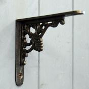 Small Florence cast iron decorative shelf bracket