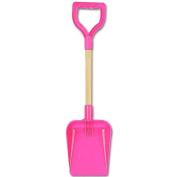 "A SHIELD End Wooden Handle Shaft Spade 20"" 50cm - Pink"
