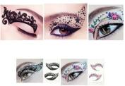 Hitece 10 paires Temporary Eye Tattoo Transfer Eyeshadow Stickers Eyeliner