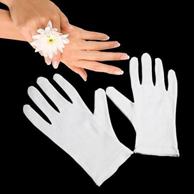 Gloves Legend White Cotton Moisturising Hand Spa Gloves - 1 Pairs (2 Gloves)