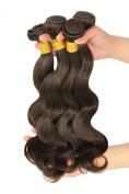 Unprocessed Virgin Brazilian Human Hair Body Wave Remy Hair Extensions Weft Weave Grade 6A #2 Dark Brown 4 Bundles 400g