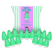 Natural Hair Gel, Medium Hold, Revolutionary NEW 15 Single-use Pods, LEAK-PROOF, TSA Travel-size. Compact, Lightweight & Best for travel with Carry-on. Ideal for on-the-go use. Cruelty-Free, PETA Approved & Vegan. Made in USA by Squeeze Pod. Pack light ..