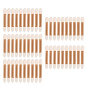 50Pcs Double Ended Eye Shadow Applicators Brushes Makeup Tools Golden