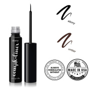 """CUEPIDO """"Oomph-liner"""" HEALTHY WATERPROOF LIQUID EYELINER with Precise Eye Liner Brush (BLACK) ♥ Extra Long-lasting Long-wearing Power ♥ Rich Colour to Create Big Eyes ♥ Specially Formulated to be SAFE and HEALTHY â .."""