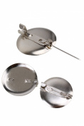100pcs 25mm Diameter DIY Findings Metal Round Brooch Pin Back Base