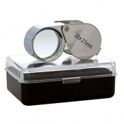 GC - 30X 21mm Jewellers Jewellery Loupe Folding Magnifier Magnifying Glass Lens US FAST FREE SHIPPER