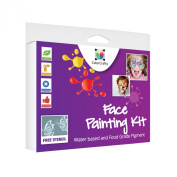 Face Painting -Face Painting Kit for Kids From Colorcrafty Offers Easily Washable, FDA Compliant Water Based Face Paints with Eight Colours and 2 Glitter Powders. GUIDE & STENCIL to Create Some Fantastic Designs for Parties and Any Oc ..