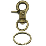 "Bluemoona 10 Pcs - 32mm 1/4"" TRIGGER SNAPS SWIVEL CLIPS 1"" 25mm Keyring Keychain Snap Hook buckles"
