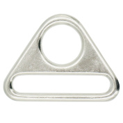"""Bluemoona 20 Pcs - 1.5"""" 38mm Metal Adjuster Triangle Ring with Bar Swivel Clip D Dee Buckle"""