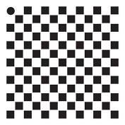 0.6cm Cheques Mini Pattern Stencil - 10cm x 10cm