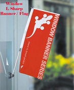 Window / Glass Telescope Flag Banner Stand Suction Cup Graphic Not Incude Promotion, Window Display Free Carry Bag X-banner