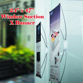 Window / Glass X Banner Stand Suction Cup 60cm X 120cm Graphic Not Incude Promotion, Window Display Free Carry Bag X-banner