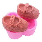 Lingmoldshop Embroidered Shoes C351 Craft Art Silicone Soap Mould DIY Candy Mould Craft Moulds Handmade Candle Moulds