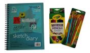 Watercolour Pencils Art Bundle - 3 Items
