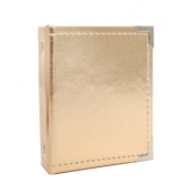American Crafts We R Memory Keepers Instax Albums with 10 Photo Sleeve, 5.3cm x 8.6cm , Gold