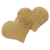 Summer-Ray.com Natural Jute Burlap Heart Embellishement