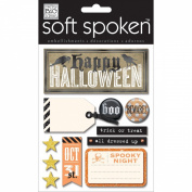 Soft Spoken Themed Embellishments-Halloween Beware