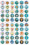 60 Precut Images Octonauts Set 1