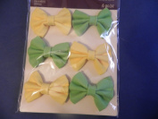 Recollections 3D Fabric Bows ~ Yellow & Green - Brand New!!!