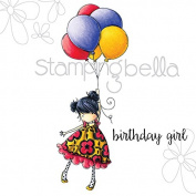Stamping Bella Cling Rubber Stamp 17cm x 11cm -Tiny Townie Blossom Loves Balloons