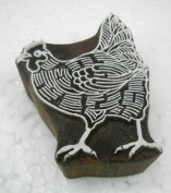 Hen design wooden block stamp/ Tattoo/ Indian Textile Printing Block