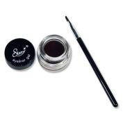 Starry Long Lasting Waterproof Eyeliner Gel with Brush Choclate Brown