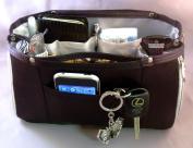 2-6 Days Delivered Britney Black & Grey Handbag Purse Tote Travel Cosmetic Make-Up Bag Organiser Insert Product Dimensions