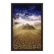 Lockable Weatherproof Frame 60cm X 90cm inches Poster Size ,3.5cm Aluminium Profile, Black and Silver Colour, Mitred Corner