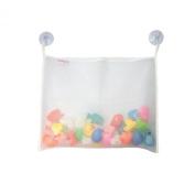 Bath Tub Toy Organiser - High Quality XL Mesh Bag - Fast Drying - Powerful Large Suction Cups