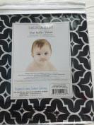 Balboa Baby Cotton Sateen Dust Ruffle - Black Lattice by Balboa Baby