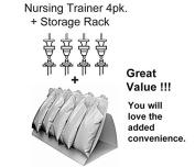 Nursing Trainer 4 Pack Plus Storage Rack