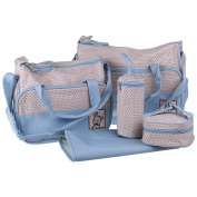 SAWE - 5 in 1 Mummy Mother Multifunction Baby Nappy Nappy Bag Mommy Tote Bag Travel Bag Handbag, with Changing Pad
