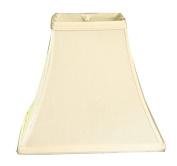 Royal Designs 30cm Square Bell Basic Lamp Shade, Eggshell, (6 x 6) x (12 x 12) x 10