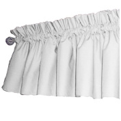 bkb Solid Colour Window Valance, White/Pink