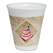 Solo 12X16GPK Cafe G Foam Hot/Cold Cups, 350ml, Brown/Red/White, 20/Pack