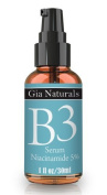 Gia Naturals Vitamin B3 Serum Niacinamide 5%, Pure Natural and Organic Ingredients, Anti-ageing, Repairs Skin Damage, Reduces Wrinkles, Evens Complexion, Fights Acne, Smaller Pores, Boosts Collagen, Professional Grade, Made in the USA