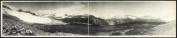 c1907 Panorama of the Little Yoho Valley near Field, B.C. 90cm Vintage Panorama p