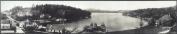 c1908 Sunapee Harbour 110cm Vintage Panorama photo