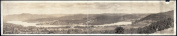 c1920 Panoramic view of Lake Fairlee from Quinibeck Lookout 110cm Vintage Panorama