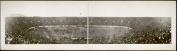 c1914 Yale football game 80cm Vintage Panorama photo