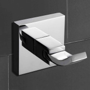 Comfort's Home RB5389 Robe Hook, Contemporary Wall Mounted Single Robe Hook for Bathroom, Chrome