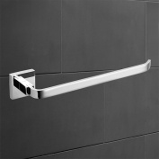 Comfort's Home TB9041 Towel Holder, 28cm Bathroom Wall Mounted Towel Bar, Chrome