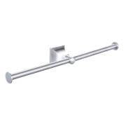 Angle Simple GE4310-3 Bathroom Lavatory Double Arm Towel Holder, Brushed Steel