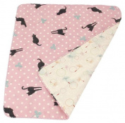 Japanese Handkerchief Wash Towel Cat & clover 40cm X 34cm Cool Kimono Design Print