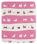 Japanese Handkerchief Wash Towel Dog & cat 40cm X 34cm Cool Kimono Design Print