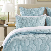 Dream Waltz Luxury Pure Cotton Quilted Pillow Sham By Calla Angel, Standard, Pacific Blue