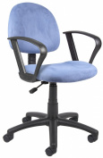 Boss Microfiber Deluxe Posture Chair with Loop Arms, Blue
