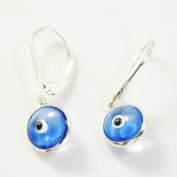 Evil Eye Earring, Silver and Evil Eye Earring