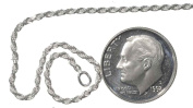 Sterling Silver Easy Adjust Diamond-Cut Rope Chain 1.4mm, 20 Inch